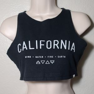 Element California Wind•Water•Fire•Earth crop top